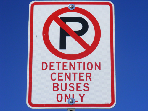 Clark County Jail Las Vegas Nevada - Detention Center Buses Only Sign